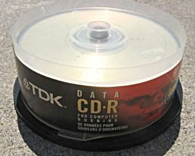 TDK CD-R Recordable Blank Compact Discs 20 Pack NEW