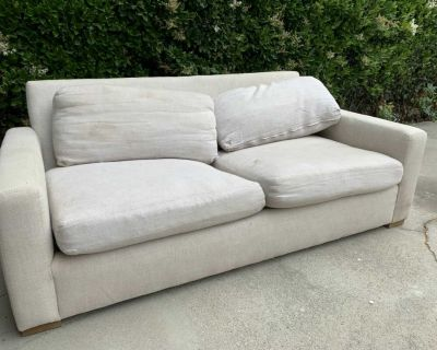 Small Restoration Hardware Couch - Linen