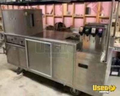Used Class B 3' x 8' Street Food Vending Cart with Trailer