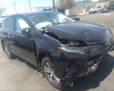 Salvage Black 2018 Toyota Rav4