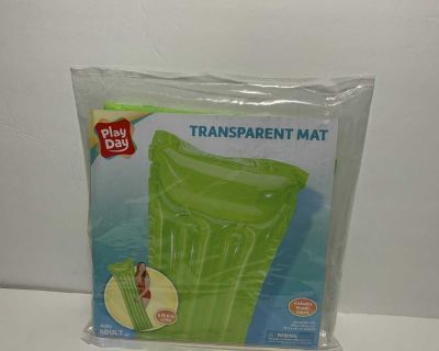 Green Play Day Inflatable Transparent Air Mat Pool Float