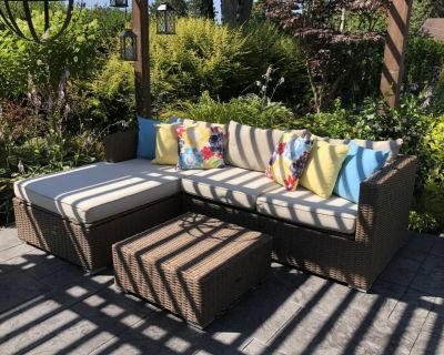 Patio Flare Emmet Deep Seating Patio Sectional Set
