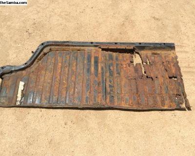 Passenger, right side floor pan, half