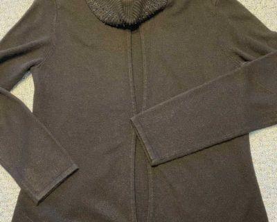 Norton Norton, black sweater set (attached shell), size L, NWOT