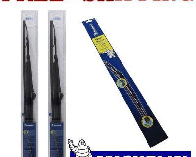 """2pcs Set Michelin Windshield Wiper Blades Fit Mercury Marauder 03-04 22"""",22"""""""