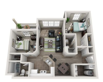(2 BED & 2 BATH) Lease takeover- Student housing