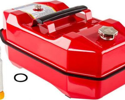 Red 5.3 Gallon Steel Gas Storage Tank-metal Outboard Boat Jerry Fuel Can Sft-5.3