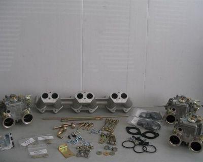 Triumph Tr6 Genuine Triple Weber 40 Dcoe Carburetor Complete Kit
