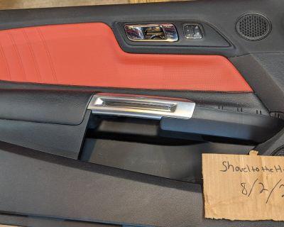 Mustang Premium Red Door Panels And Console