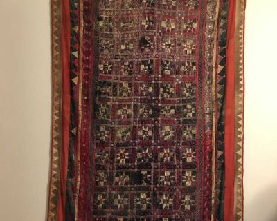 Sunday afternoon: Moving out SALE!! Antique Nepal wall tapestry