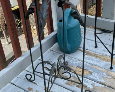Small Wrought Iron Glass top patio table