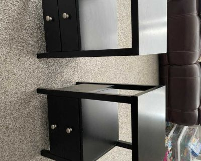 Side tables with two drawers each