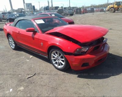 Salvage Red 2010 Ford Mustang