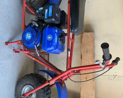 Mini bike. 196cc motor. Lots of power. Start easy and runs great. They normally come with a 96cc motor. But put a bigger motor on it. $775