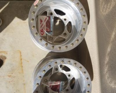 OMF Bogart buggy rims 15x12 rears new beadlocks
