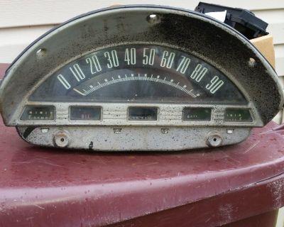 56 1956 Ford Truck F1 F100 Speedometer Instrument Cluster Clean Gauges Oem