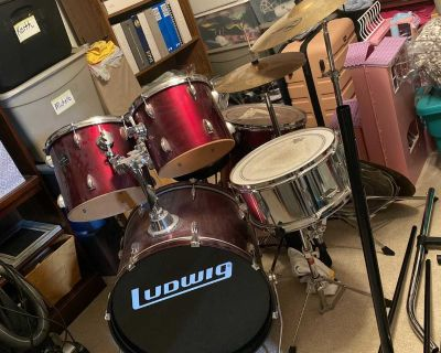 Ludwig Full Drumset Red