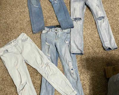 Boys Bundle of RSQ destruct skinny jeans