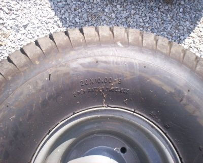 two craftsman wheels and tires - 20 x10.00-8