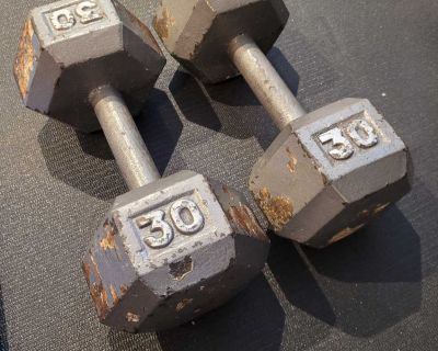 30 lbs dumbbells weights poids alt res