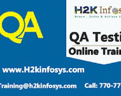 QA Online Training on real time Projects by H2k infosys.