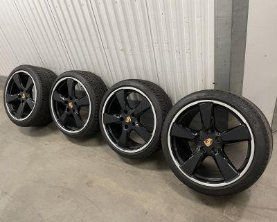 "20"" Gloss Black Sport Classic Design Wheels w/ winter tires, TPMS, center caps!"