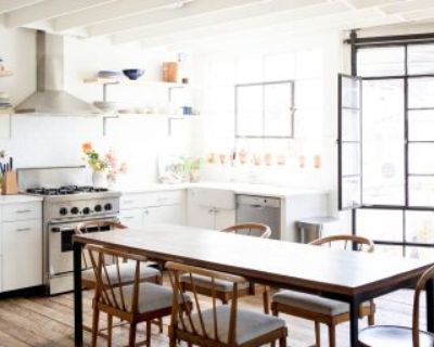 Light filled, uniquely renovated rustic and modern large loft style apartment, santa monica, CA