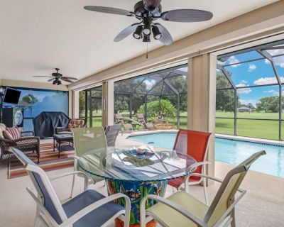 Beautiful Golf Course View! Heated Pool, Outdoor Living Space, Free Wi-Fi, Minutes To Matlacha! - Burnt Store