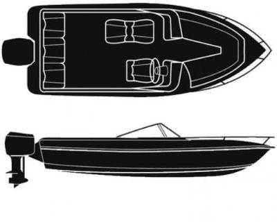 Attwood Marine #10162 - Boaters Best Polyester Boat Cover For V-hull O/b 20ftx96
