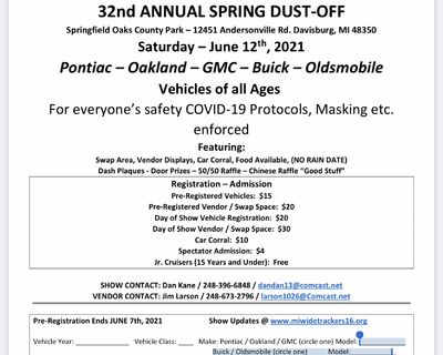 Michigan Widetrackers Spring Dust-off