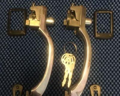 Restored 1967 bug door handles, keyed alike