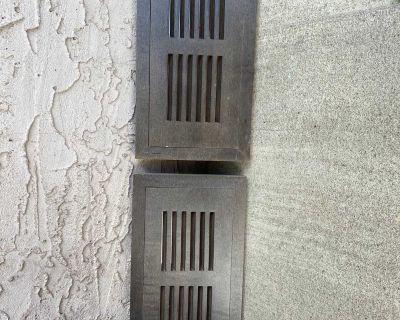 Return air vents wooden