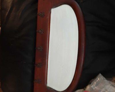 Antique mirrored jewelry/key holder
