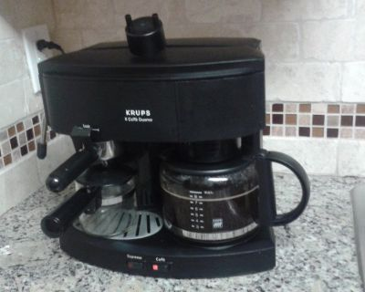 KRUPS COFFEE DUOMO $60.00