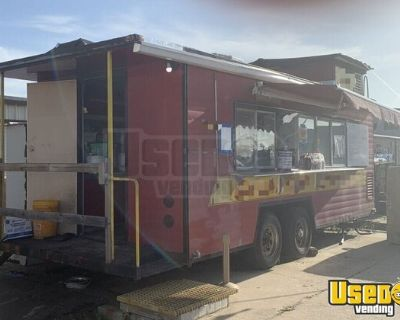 7.8' x 20' Mobile Kitchen Caboose Style Street Food Concession Trailer