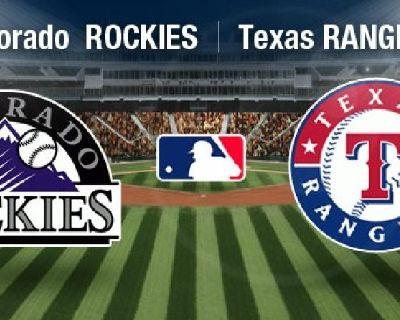 Texas Rangers 2018 Tickets - TixTM