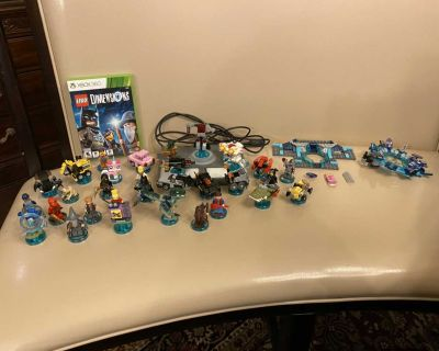 Hardly Used - Lego Dimensions Xbox 360 game, portal base, and figures