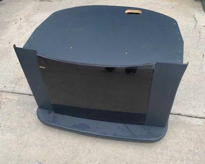Black TV Stand w/ CD/DVD storage