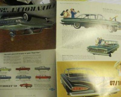 1959 Chevrolet Dealer Sales Brochure Impala