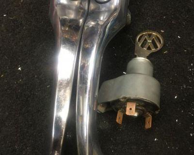 Very nice set 67 bug door handles w ignition sw