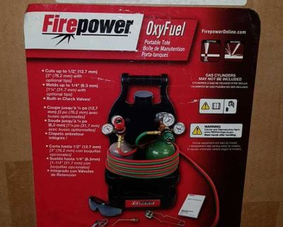 Brand new FIREPOWER OXYFUEL PORTABLE TOTE COMPLETE KIT **MAKE A REASONABLE OFFER**