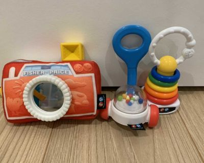 Fisher Price rattle teether chew toys