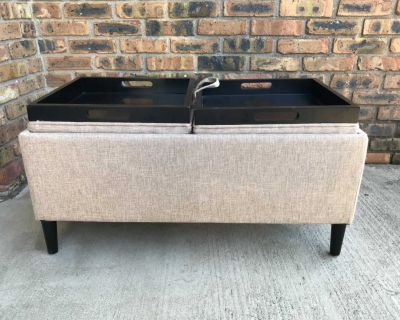 Storage bench with 2 sided top options