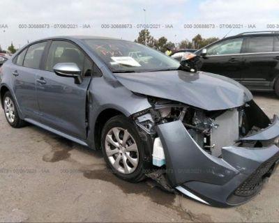 Salvage Silver 2021 Toyota Corolla
