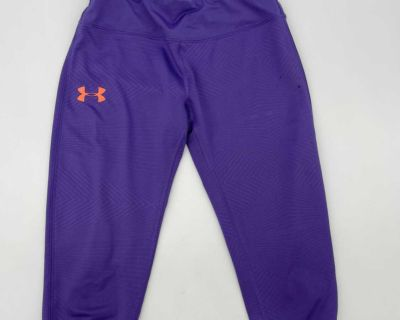 Under Armour Purple Sports Active Gym Pants- Size Youth Medium