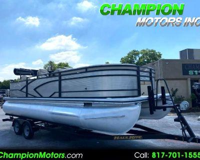 Used 2018 Lund LX220 Sport Fish Pontoon Boat w/Mercury 90HP 4 Stroke