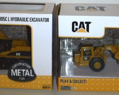 New! Cat Caterpillar 1:64 Diecast Tractor -OR- Excavator ~ Collectible Construction Toys