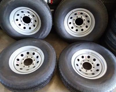 New 10 12 14 Ply Trailer Tires & 8 Lug Rims ST235-85-R16