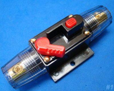 Car Audio 100-amp Circuit Breaker Manual Reset Switch Agu Fuse Holder Style