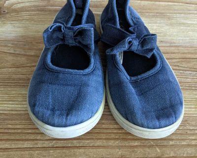Girls Blue Slip On Sneakers Size 12